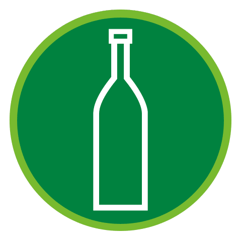 Ensure bottles are not broken